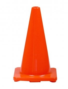 Orange PVC Plain Cone 450mm - Esko