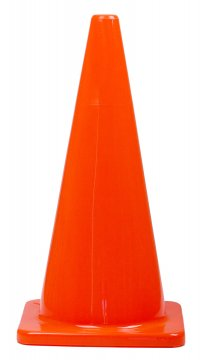 Orange PVC Plain Cone 700mm - Esko