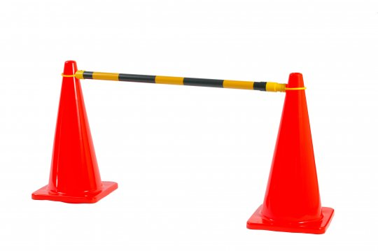 Yellow/Black Extendable Cone Bar - Esko
