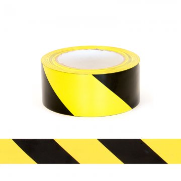 ESKO Floor Aisle Tape, Black/Yellow, 50mm x 33mtrs  - Esko