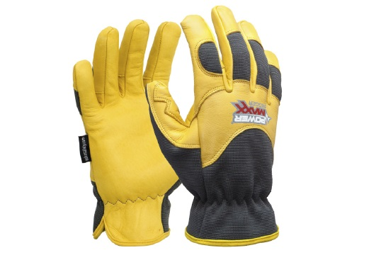 POWERMAXX' 'Rigger' Premium Gold Leather Mechanic Glove XL - Esko